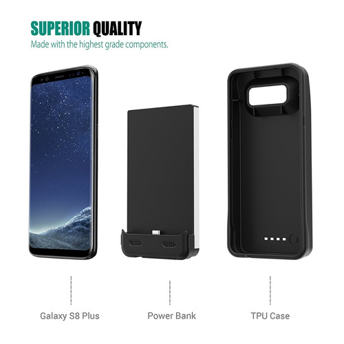 galaxy s8 plus battery case, zerolemon 6300mah