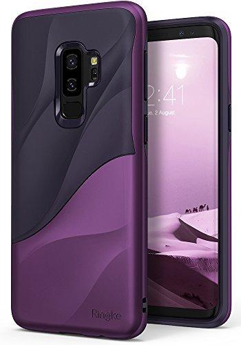 galaxy s9 plus case ringke [wave] [metálico púrpura] dual la