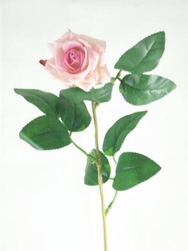 galho rosa artificial aveludada - flores artificiais rosas