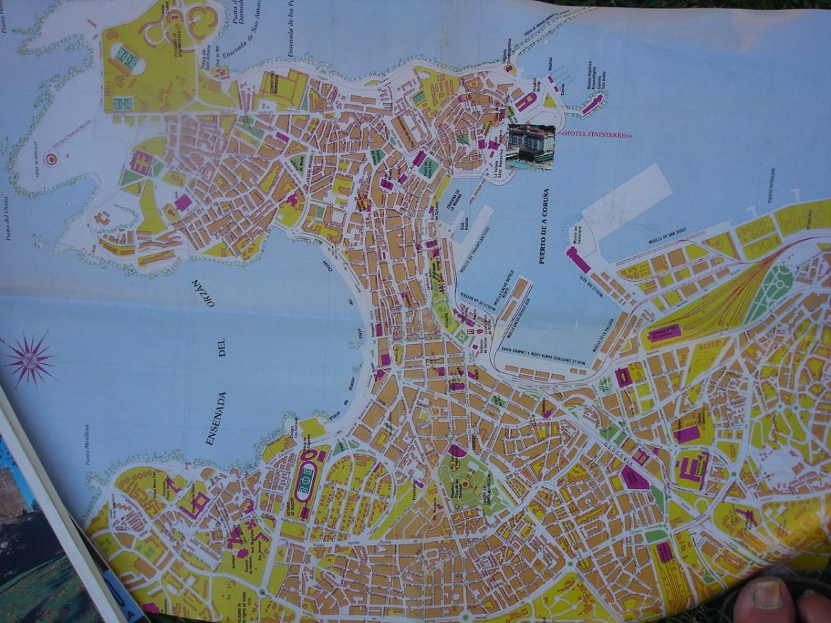 A Coruña Mapa Turistico.Galicia Y Centro De La Coruna Plano Mapa Turistico No Env 90 00