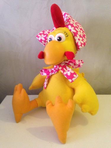 galinha galo carijó - personagem - de pelucia