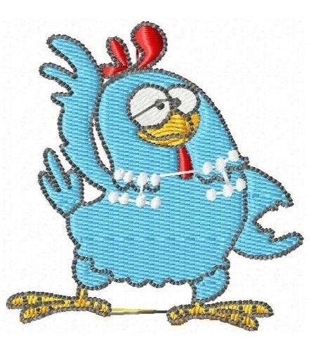 galinha pintadinha 002 - coleção de matriz de bordado