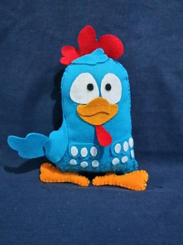 galinha pintadinha em feltro - 15 cm de altura