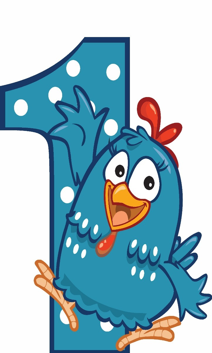 galinha pintadinha numero 1 com 1 peça de 60cm 24hs Úteis r 39