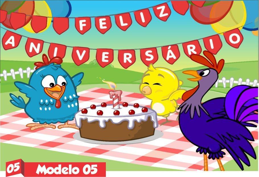 Banner Feliz Aniversario: Galinha Pintadinha Painel Lona Festa Banner Aniversario