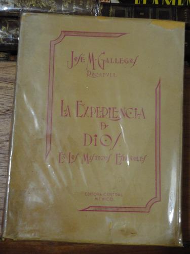 gallegos rocafull experiencia de dios en místicos españoles