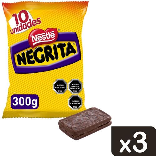 galleta bañada negrita multipack 10x30g x3 bolsas