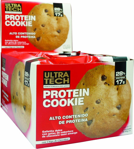 galleta proteíca ultra tech caja x 12 unidades barritas