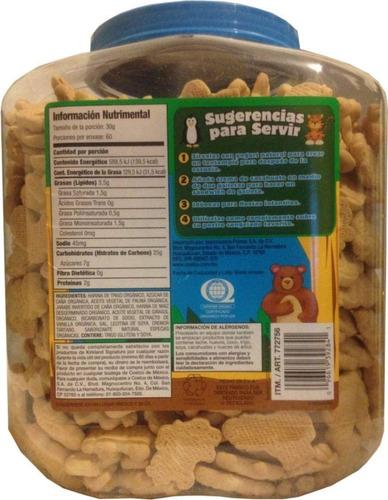 galletas de animalitos orgánica kirkland signature de 1.8 kg