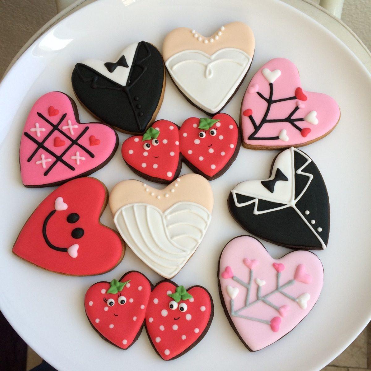 Galletas Decoradas Amor Amistad 14 Febrero San Valentin