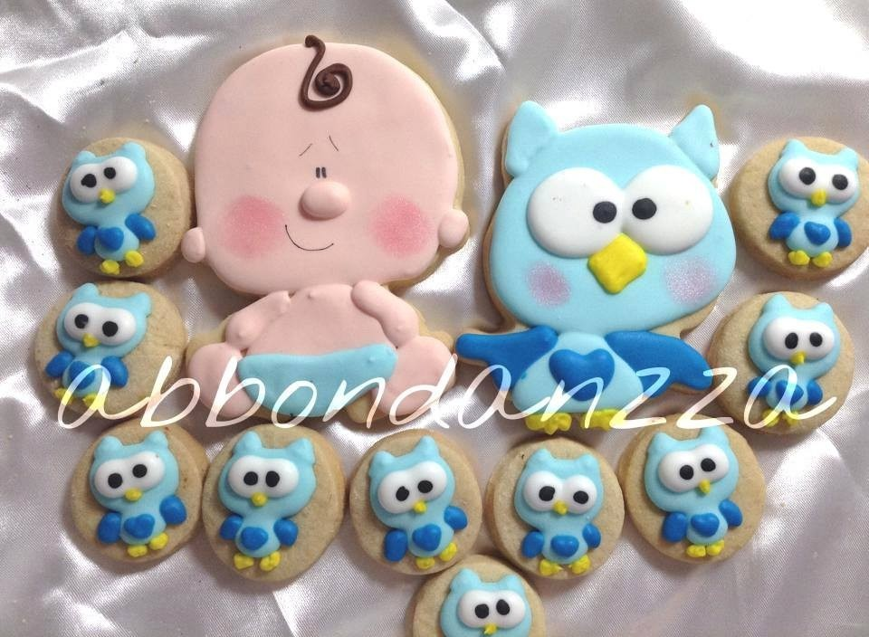 Galletas Decoradas Baby Shower Niño Bebé Recien Nacido