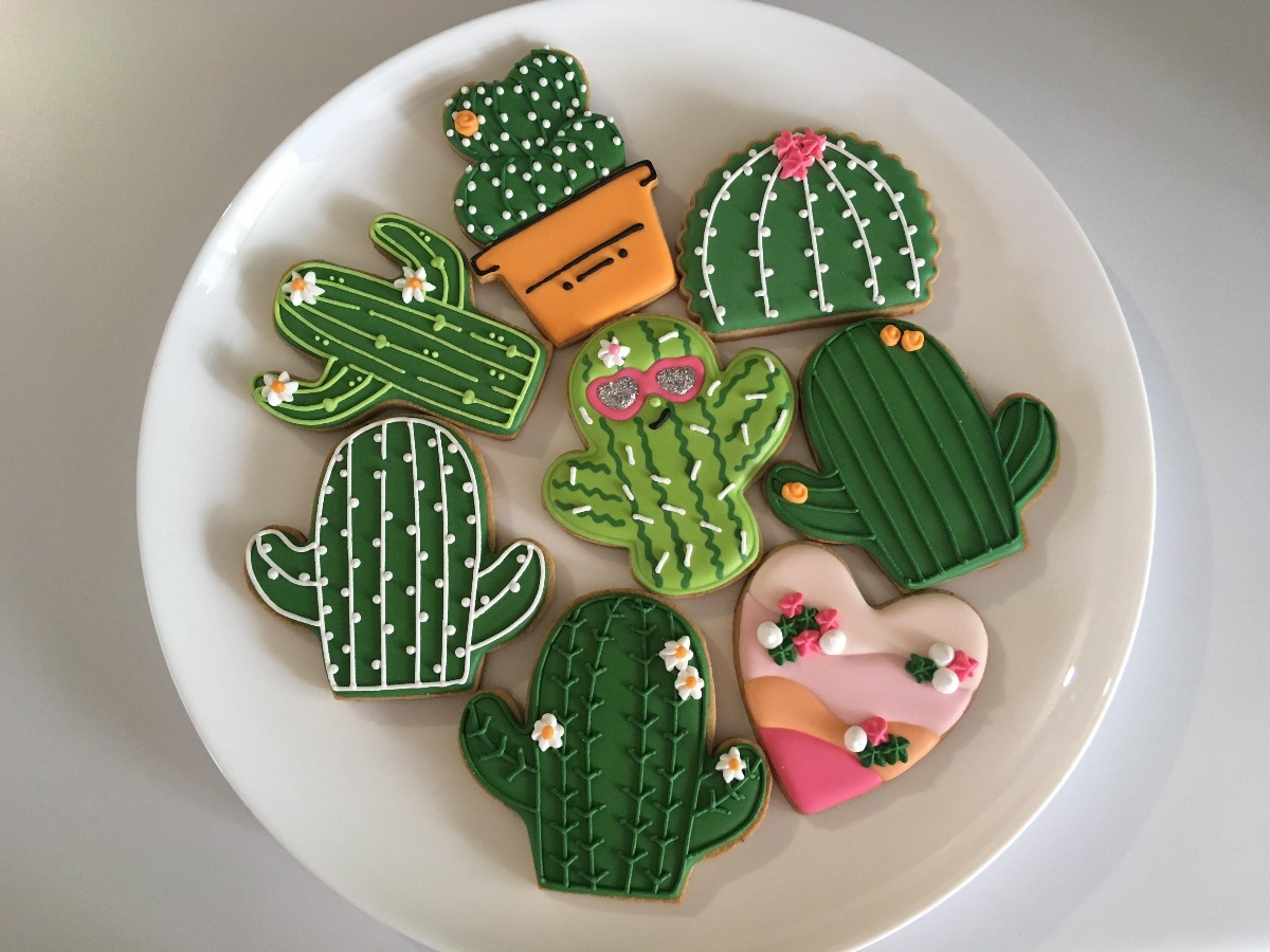 Galletas Decoradas Cactus Fiestas Tematicas Infantiles