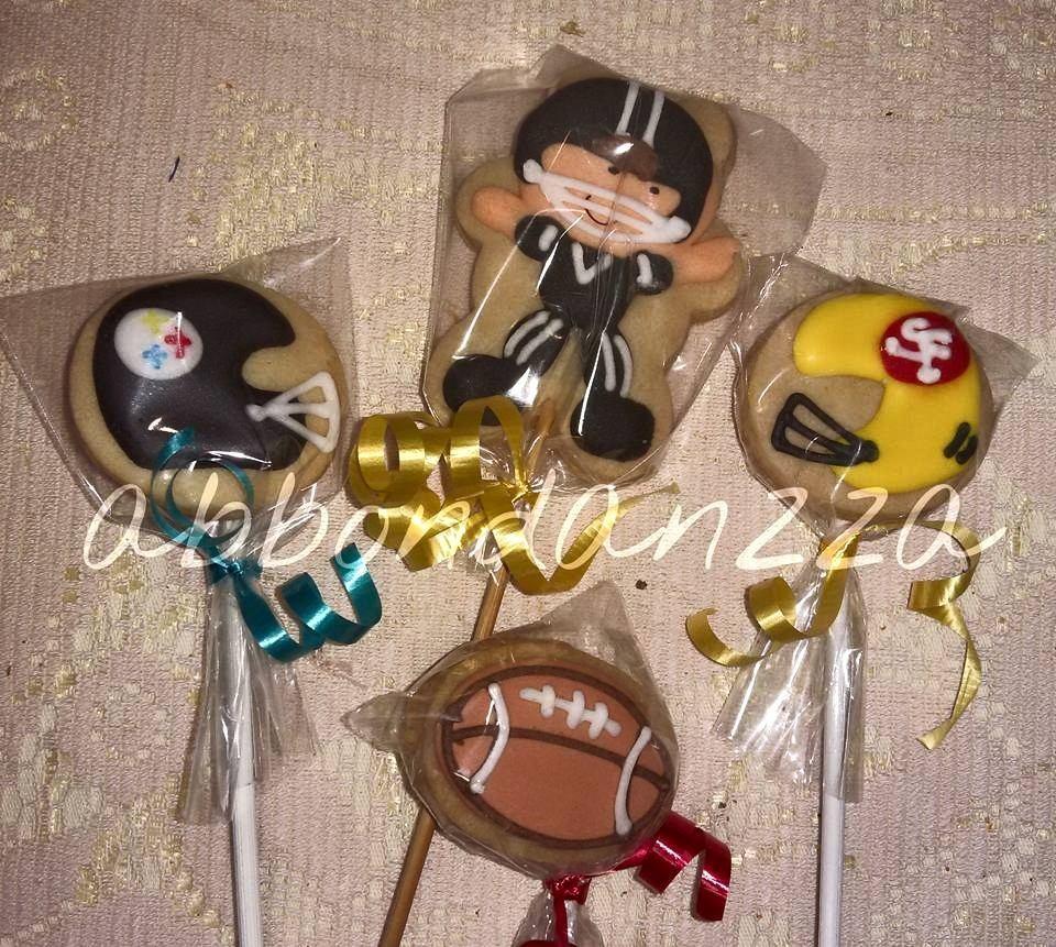 Galletas Decoradas Futbol Americano Cascos Balon