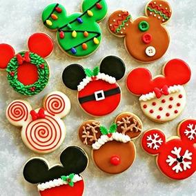 Galletas Decoradas Mickey Navidad
