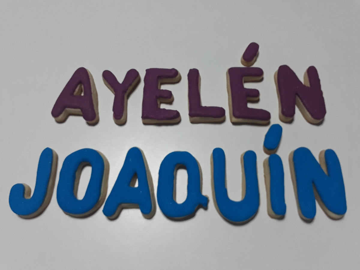 Galletas Decoradas Nombres Souvenirs Cookies