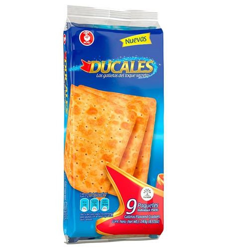 galletas ducales 243 gr  x 9 paquetes