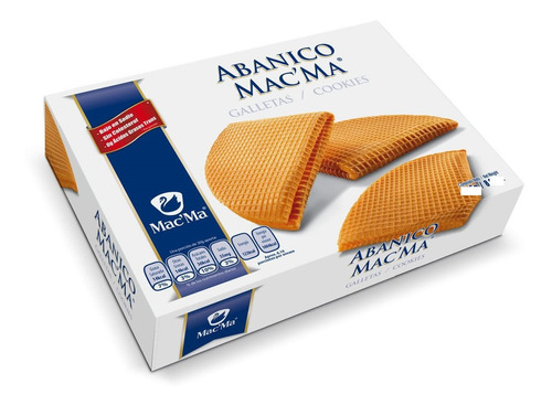 galletas mac ma abanicos caja con 490 gramos