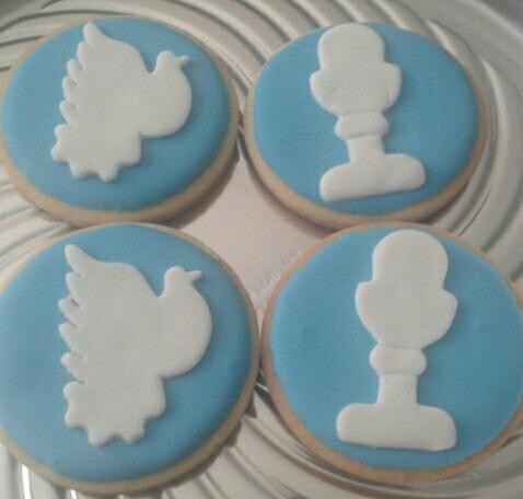 galletas para comunión o bautismo