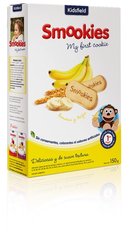 Galletita Para Bebés Smookies Banana 12 Paquetes 150gr - $ 450,00 en ...
