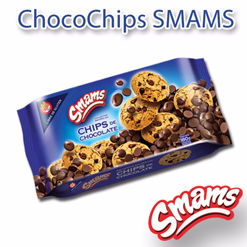 galletitas chips chocolate libre de gluten smams x 2 cajas