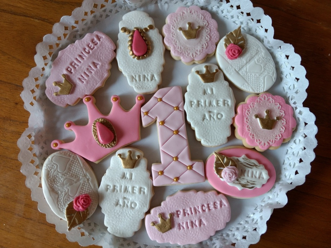 Galletitas Decoradas Cookies Cumples 1er Año Princesas