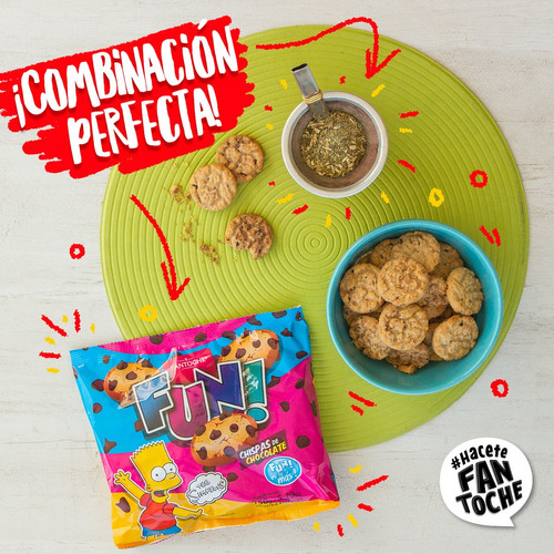 galletitas fun chispas de chocolate fantoche 150g
