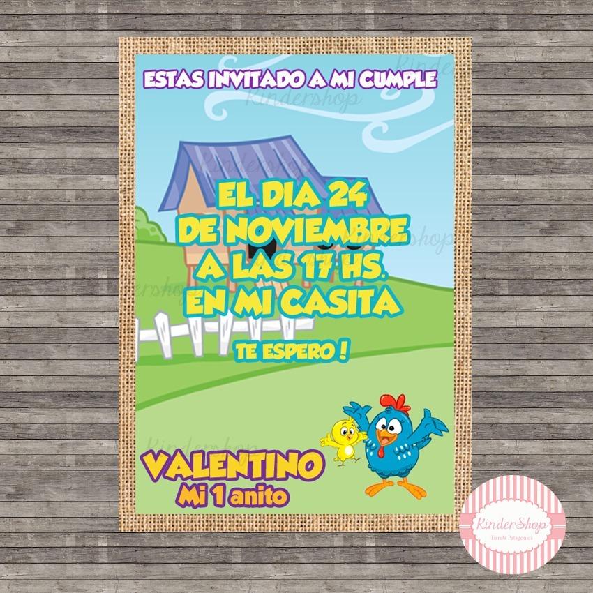 Gallina Pintadita 40 Invitaciones Tarjetas