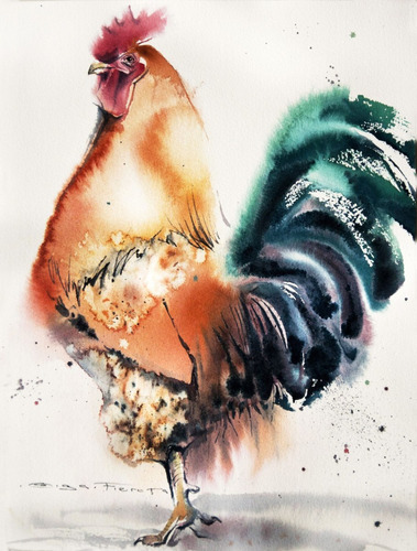 gallos de pelea cuadros