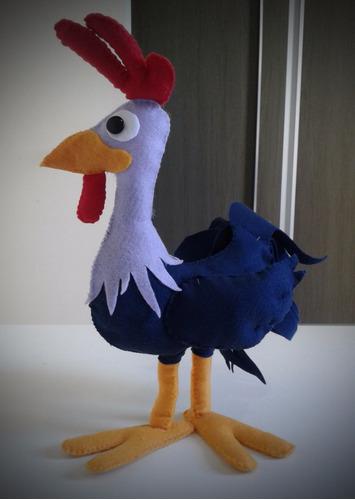 galo carijo em feltro 40cm - turma galinha pintadinha