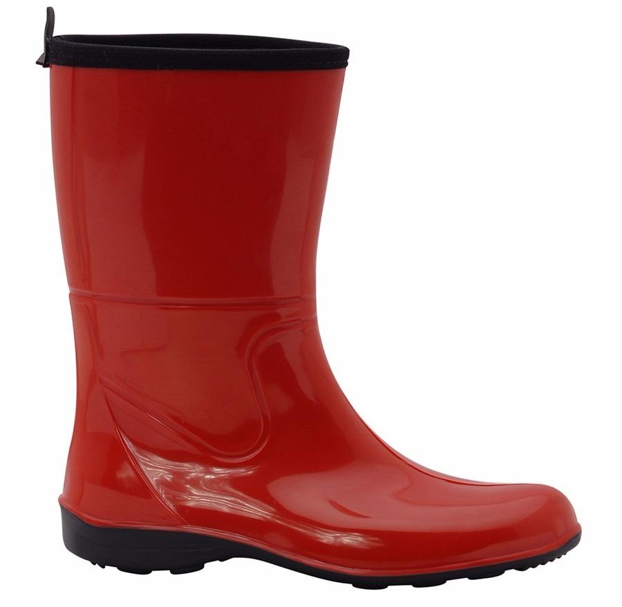 f4b8d7e2389 galocha bota infantil borracha vermelha cano médio. Carregando zoom.