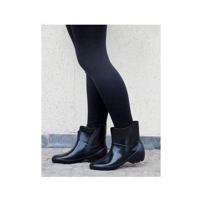 ddbd22838fd galocha bota borracha feminina limpeza cano curto pat preta. Carregando  zoom... galocha bota pat