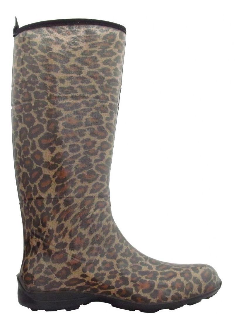 fe221f6b61139 Galocha Fashion Alpat Estampa Oncinha + Brinde - R$ 119,00 em ...