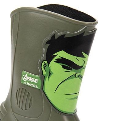 b51fe6ae077 Galocha Infantil Masculina Avengers Hulk Lançamento Grendene - R  69 ...