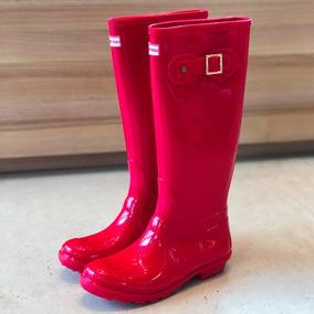 9e90494ad Galocha Hunter Vermelha Feminino Outros Tipos - Botas Galochas Vermelho com  o Melhores Preços no Mercado Livre Brasil