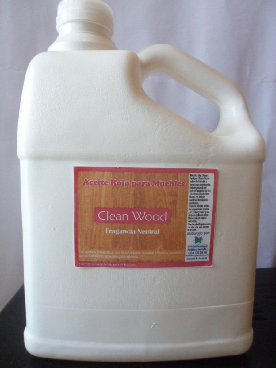 Galon aceite rojo o incoloro para muebles madera marca dg for Aceite para muebles de madera