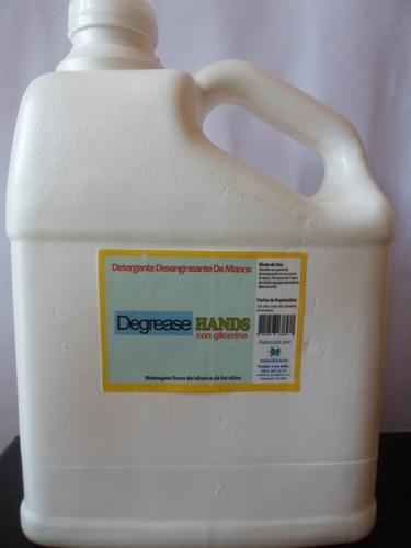 galon detergente desengrasante suave para manos marca dg