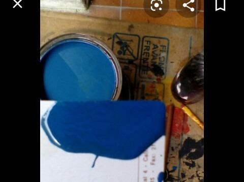 galón esmalte brillante azul mediano o marrón caoba