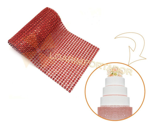 galon falso strass para tortas costura y decoraciones +++