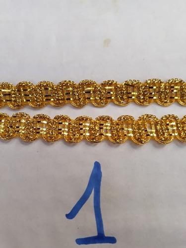 galon pasamaneria lurex oro por 25 m