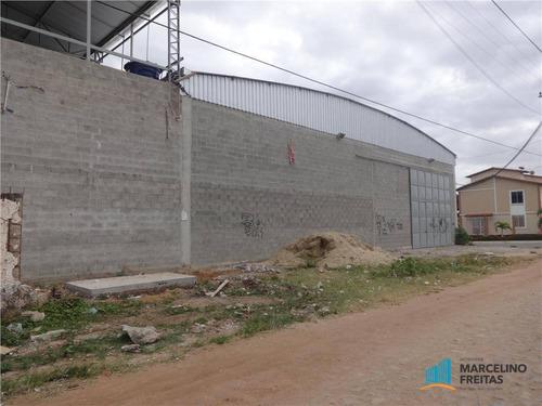 galpão comercial para locação, messejana, fortaleza. - codigo: ga0012 - ga0012