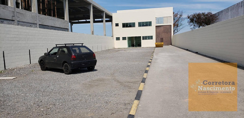 galpão industrial 750m² com área ampla de estacionamento - ga0149