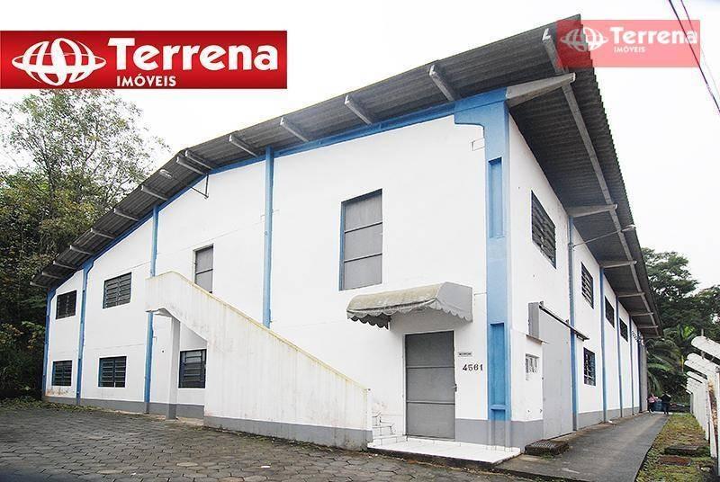galpão industrial 750m²,   encano norte, indaial/sc - ga0080