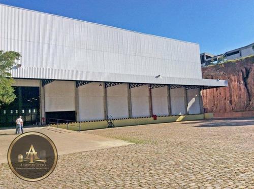galpão industrial para locação em jandira - 05 minutos da castelo - planta de 10.600 m² - confira! - ga0049