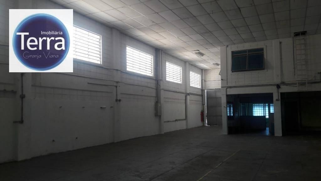 galpão para alugar, 1000 m² por r$ 16.000,00/mês - jardim colibri - cotia/sp - ga0137