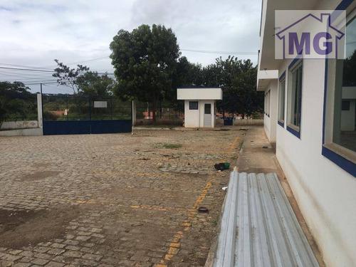 galpão para alugar, 1400 m² por r$ 19.000/mês - granja dos cavaleiros - macaé/rj - ga0124