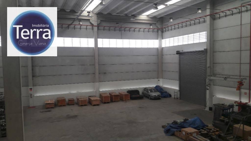 galpão para alugar, 1580 m² por r$ 45.000/mês - polo industrial granja viana - granja viana - ga0149