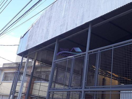 galpão para alugar, 1600 m² por r$ 15.000/mês - vila nova manchester - são paulo/sp - ga0057