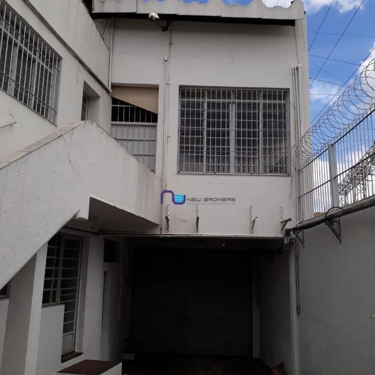 galpão para alugar, 1650 m² por r$ 27.000,00/mês - mooca - são paulo/sp - ga0691