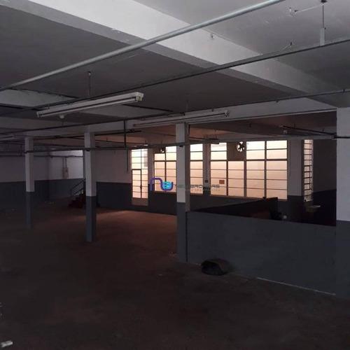 galpão para alugar, 1650 m² por r$ 27.000/mês - mooca - são paulo/sp - ga0691