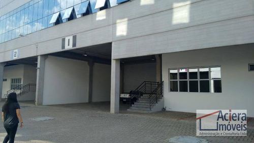 galpão para alugar, 1650 m² por r$ 37.950/mês - jardim alvorada - jandira/sp - ga0432